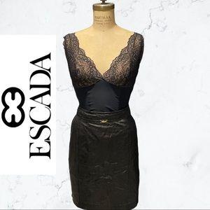 EDCADA leather midi pencil skirt RUNWAY Large